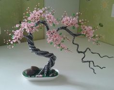 """Check out our site for even more relevant information on """"metal tree wall art decor"""". It is actually a great area to read more. Wire Flowers, Beaded Flowers, Paper Flowers, Wire Crafts, Bead Crafts, Diy And Crafts, Wire Tree Sculpture, Tree Wall Decor, Art Decor"""
