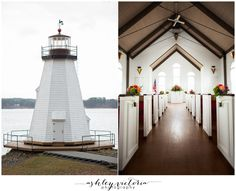 Children's Harbor Lake Martin, AL Wedding | Lighthouse + Cutest Little Chapel | View more: http://www.ashleyvictoriaphotographyblog.com/2013/03/13/hitched-childrens-harbor-chapel-lake-martin-wedding-sarah-brandon-are-married/