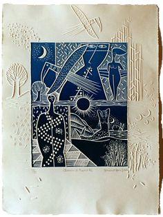 303 - Chemins de traverse 2 - Simone & Jean Gravure Modern Drawing, Modern Art, Collagraph, Cyanotype, Gravure Illustration, Engraving Printing, Art Graphique, Art Studies, Wood Print