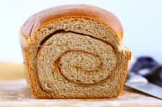 Whole wheat cinnamon swirl bread... want to make this soon but don't really have time.  soon will turn into this month.