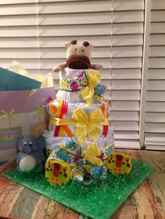 Zoo Animal Diaper Cake