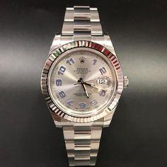 Rolex Datejust II 116334 Silver Arabic Dial WA : 628121067189  : 021-7209021 https://mulialegacy.com