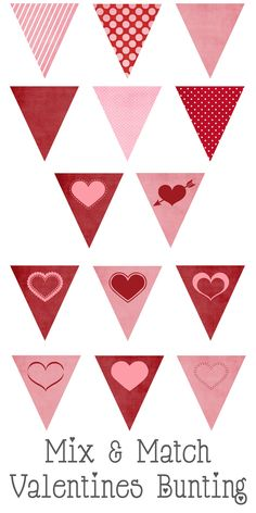 Valentines Mix and Match Bunting Free Printable!