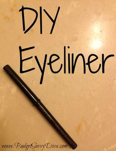 All-Natural Eyeliner Using Only One Ingredient - Activated Charcoal (AC). This method of making natural eyeliner isn't just cheaper, excellent for those with sensitive eyes, and a step towards self-sustainability - it is actively good for you! Beauty Make Up, Diy Beauty, Beauty Hacks, Natural Eyeliner, Natural Makeup, Natural Beauty, Beauty Secrets, Beauty Tips, Beauty Products