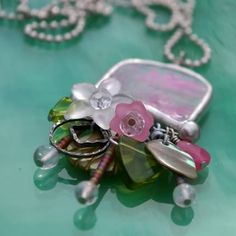 recycled beads and glass...