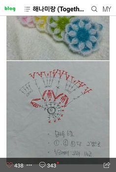 Crochet Squares, Crochet Motif Patterns, Crochet Circles, Crochet Diagram, Crochet Granny, Diy Crochet, Crochet Designs, Crochet Doilies, Crochet Flowers