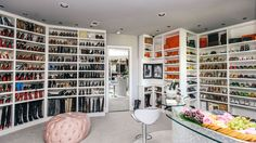 The best of luxury closet design in a selection curated by Boca do Lobo to inspire interior designers looking to finish their projects. Discover unique walk-in closet setups by the best furniture makers out there Walk In Wardrobe, Walk In Closet, Closet Space, Huge Closet, Big Closets, Dream Closets, Girls Dream Closet, Closet Vanity, Beautiful Closets