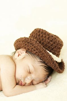 Cowboy Derby Bowler Hat Photo Prop Newborn by NeedlinOnTheRidge, $15.00