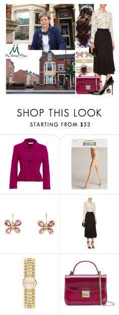 """""""Making a visit to My Sister's Place in Middlesbrough"""" by marywindsor ❤ liked on Polyvore featuring Oscar de la Renta, Wolford, Temple St. Clair, Equipment, Orla Kiely, Furla and Gianvito Rossi"""