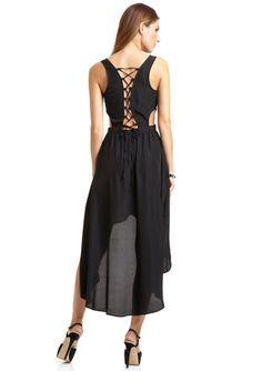 ALI & KRIS Sleeveless Deep V-Neck Dress with Side Cutouts