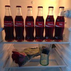 This Coca-Cola proposal idea is so adorable!
