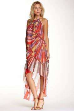Ramy Brook Giselle Pleated Halter Hi-Lo Silk Dress by Ramy Brook on @HauteLook
