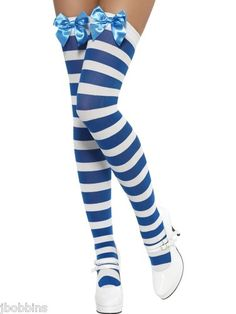 Costumes Stockings & Thigh-highs Spirited Adult Ladies Striped Knee High Stockings Socks Hosiery Sexy Cosplay Fancy Dress