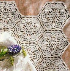 Very pretty hexagon motif