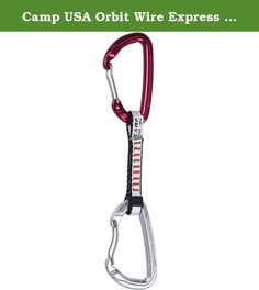 Camp USA Orbit Wire Express KS Dyneema Quickdraw 11cm. FEATURES of the Camp USA Orbit Wire Express KS Dyneema Quickdraw Equipped with a straight gate Orbit Wire for the bolt end and a bent gate for the rope end 10 mm x 11 cm Dyneema dogbone.