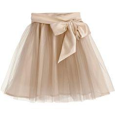 Little Wardrobe London - Fairytale Tulle Skirt with Satin Sash Caramel (2.110 ARS) ❤ liked on Polyvore featuring skirts, bottoms, knee length tulle skirt, midi skirt, beige midi skirt, beige skirt and satin skirts
