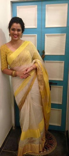 Very and GiriJa Oak shows off her assets and awesome body curves in this gorgeous transparent yellow and off white coloured saree. Beautiful Saree, Beautiful Indian Actress, Beautiful Actresses, Beautiful Women, Beauty Full Girl, Beauty Women, Beach Girl Photos, Saree Backless, Girl Number For Friendship