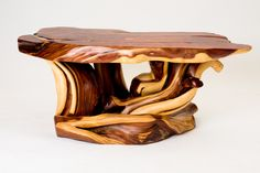 Juniper coffee table Made in Montana by Randy Hillner