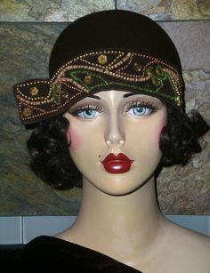 Beaded Band Flapper Hat