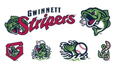 Bait and Switch: Gwinnett Rebrands as Stripers 2d Character, Character Design, Sports Decals, Team Mascots, Bait And Switch, Sports Team Logos, Minor League Baseball, Logo Design, Graphic Design