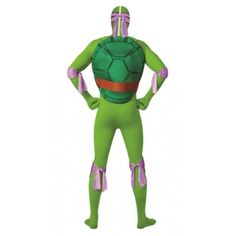 Déguisement Donatello Tortue Ninja™ seconde peau adulte 2nd Skin