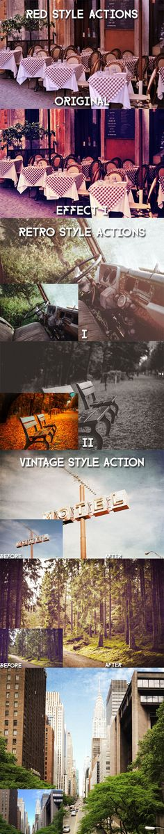 New Year Action Bundle #photoshop #action #bundle #marketplace #graphicriver #retro #style #red #black #awesome #vintage