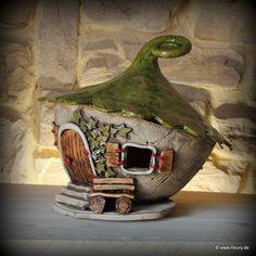 Keramik-Windlicht / Wichtelhaus ©Kreativwerkstatt-Fleury www.fleury.de
