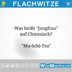 Flachwitze #217 - Chinesische Jungfrau - WitzeMaschine