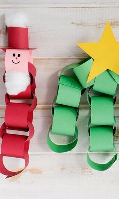 Paper Chain Christmas Craft-Our Christmas-inspired paper chains will help get your little ones into the holiday spirit. To set up this craft, you just need strips of construction paper in various Christmas colors. Set out cotton balls for Santa's beard, markers, and sugar glue to attach embellishments onto your paper chains. You can make just about anything your imagination comes up with. A few ideas to get you started - Santa, a Christmas tree, and a snowman. A fun idea would be to make a…