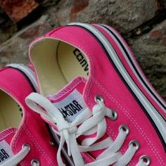 I want these sooooo bad!!! They are so cute!!!!! all Pink Shoes under $40 #cheap #converse #Sneakers