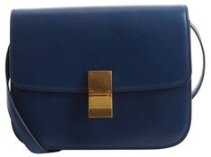 9d7ff085db Celine Pre-Owned  electric blue leather  Classic Box  shoulder bag on  shopstyle