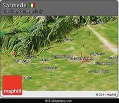 nice Map of Sarmede