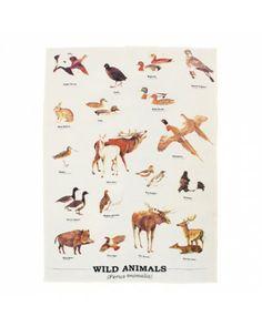 Wild Animals Tea Towel - Ecology - £7.99