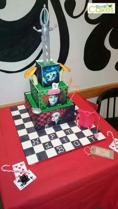 Awesome Jim Burton, Alice in Wonderland Cake by O and O cakes.