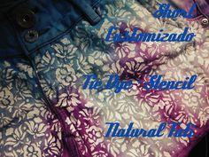 Short Customizado Tie dye + Stencil