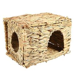 GLOGLOW Pets grss HousePet Grass Cage1PC Small Pet Animal HandWoven Grass Cage Hamster Playing Sleeping House ** Want extra info? Click on the image. (This is an affiliate link).