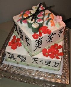 sushi wedding cake recipe 1000 images about cakes sushi on sushi cake 20660