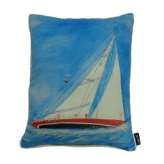Such a simple but striking design, this pillow can be used in a chair, on a sofa or to set the mood in a vacation lake home. Pinned from Joss and Main
