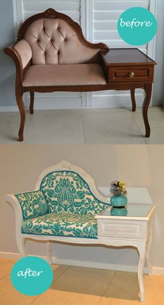 **** OMG I LOVE THIS!! Refurbished Telephone Gossip Bench ****
