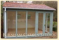 "Gartenlaube Garden studio building How Garden Art Creates Your Personal Idyll ""Art enables us to fin Backyard Office, Backyard Studio, Garden Office, Studio Shed, Studio Build, Workshop Studio, Outdoor Rooms, Outdoor Living, Gym Shed"