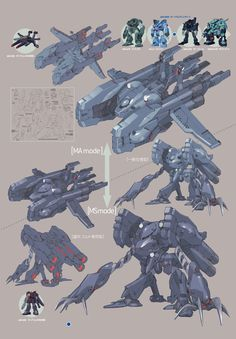[A.O.Z Re-Boot] AMX-008M GA-ZOWMN MARINE TYPE: Hi Res Image, MS and MA Mode Images too http://www.gunjap.net/site/?p=308862