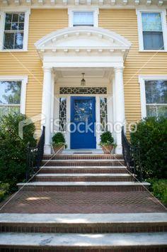 yellow house door - Google Search