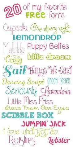 20 of My Favorite Free Fonts | mysunnysideuplife