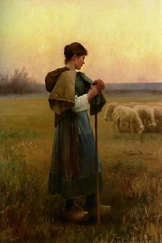 Daniel Ridgway Knight The Young Shepherdess print for sale. Shop for Daniel Ridgway Knight The Young Shepherdess painting and frame at discount price, ships in 24 hours. Cheap price prints end soon. Canvas Wall Art, Wall Art Prints, Photo Animaliere, Sheep Art, Knight Art, American Artists, Beautiful Paintings, Oeuvre D'art, Les Oeuvres