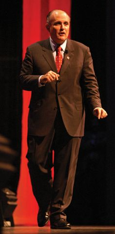 The Honorable Rudolph Guiliani spoke at Union University's 2003 Scholarship Banquet.