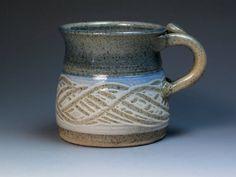 Don Reitz Stoneware Pottery Mug Wheel Thrown Studio by MugsMostly