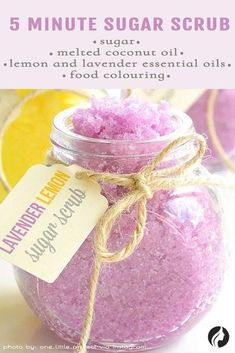 Recipe of sugar scrub. Homemade gifts show a lot of thought, time and effort. Plus, they come from the heart. If you want to make your mom happy this year, why not consider personalized gifts for Mother's Day? #mothersdaygifts, #giftformom, #giftsforwomen, #handmadegiftforher, #exclusivegiftformothersday