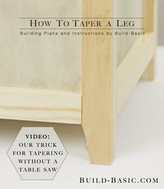 How to Taper a Leg - Building Plans by @BuildBasic www.build-basic.com
