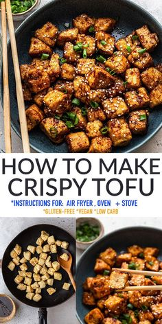 Learn how to makeCrispy Tofuwith this easy and delicious recipe that you can make in your air fryer, oven or on a skillet. Just a few ingredients and you'll have the crispiest tofu on your table in less than 30 minutes. Gluten-free, dairy-free, vegan and low carb.Works great for meal-prep to have extra protein on hand to add to meals throughout the week! Easy Delicious Recipes, Vegetarian Recipes Easy, Veggie Recipes, Lunch Recipes, Easy Dinner Recipes, Easy Meals, Healthy Recipes, Protein Recipes, Healthy Appetizers