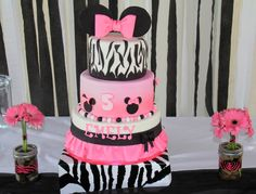 red and black minnie mouse party supplies | Minnie Mouse Zebra Print Dessert table « Project Nursery